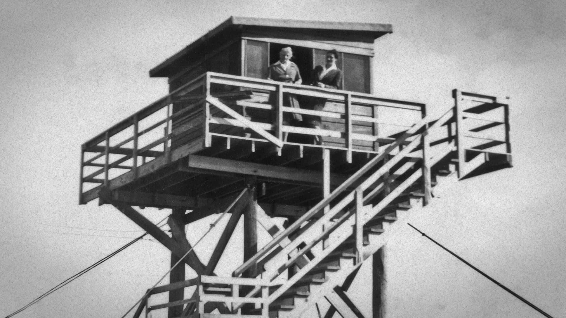 Watchtowers in early Deerfield Beach, FL
