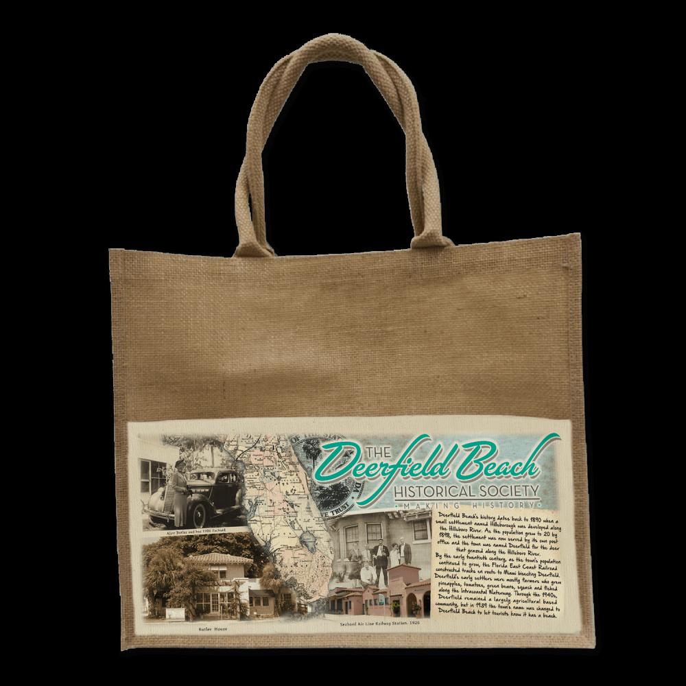 Deerfield Beach Historical Society - SHOP: Jute Bag-01