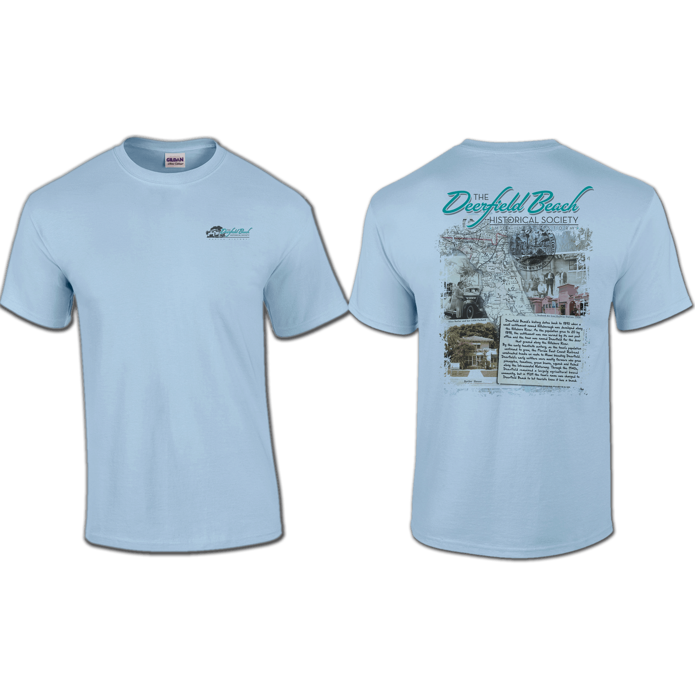 T Shirt Pocket Back Print Deerfield Beach Historical Society