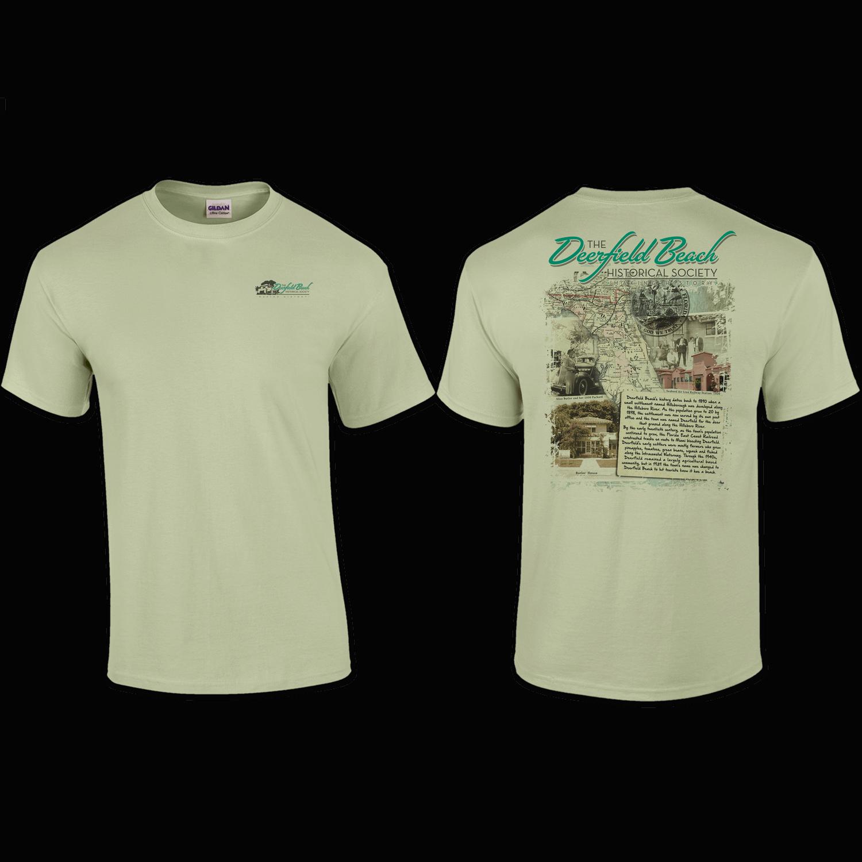 T Shirt Pocket Back Print Deerfield Beach Historical