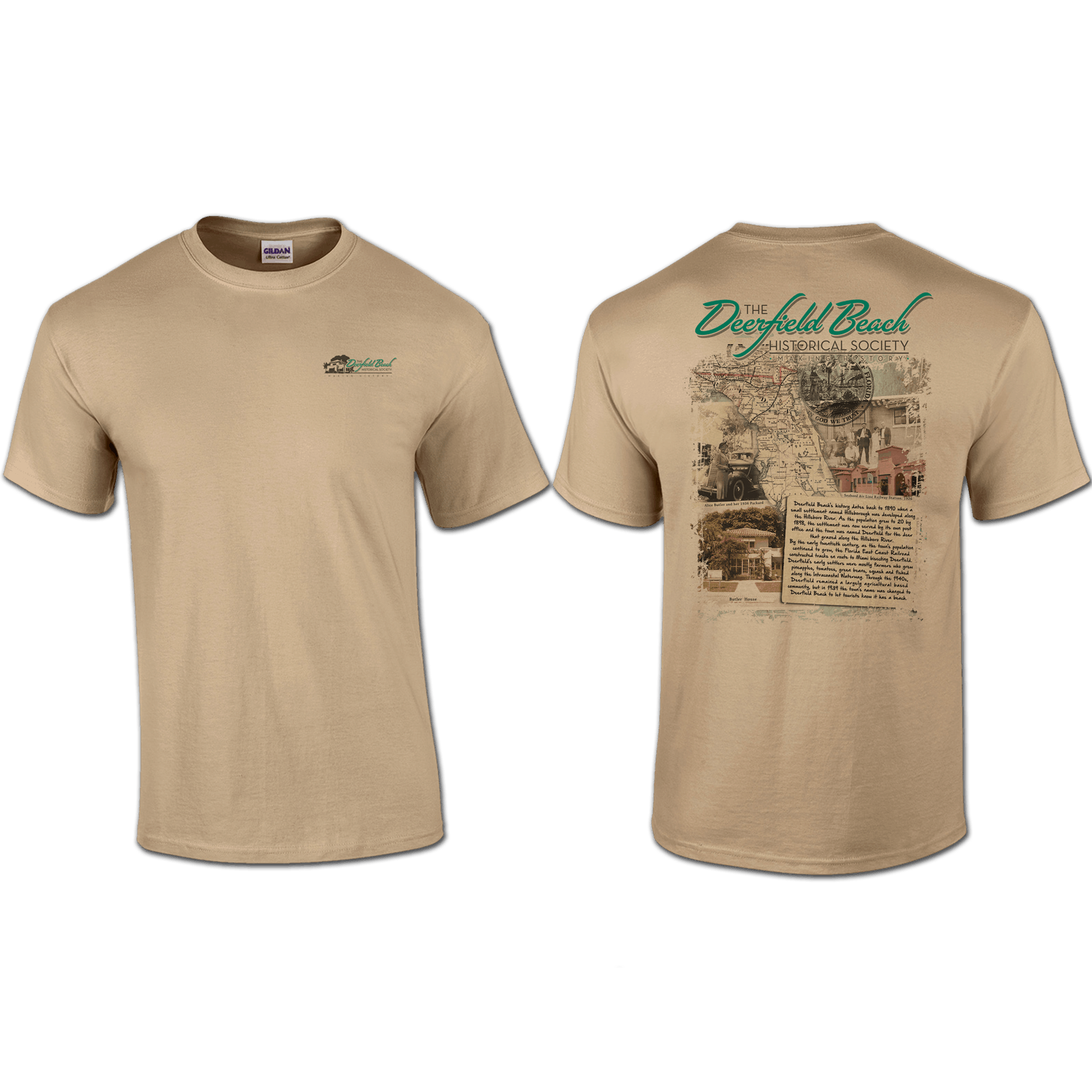 T shirt pocket back print deerfield beach historical for Pocket t shirt printing