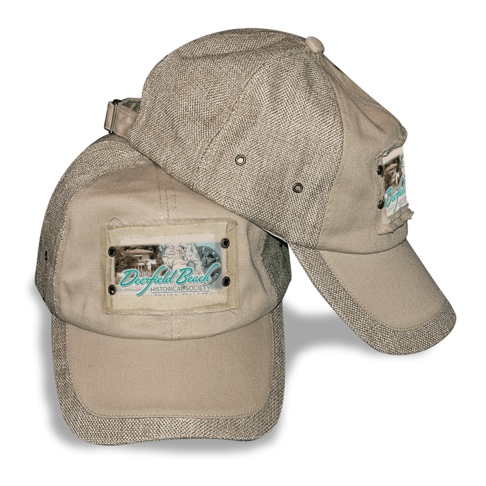 Deerfield Beach Historical Society - SHOP: Sports Cap - Jute