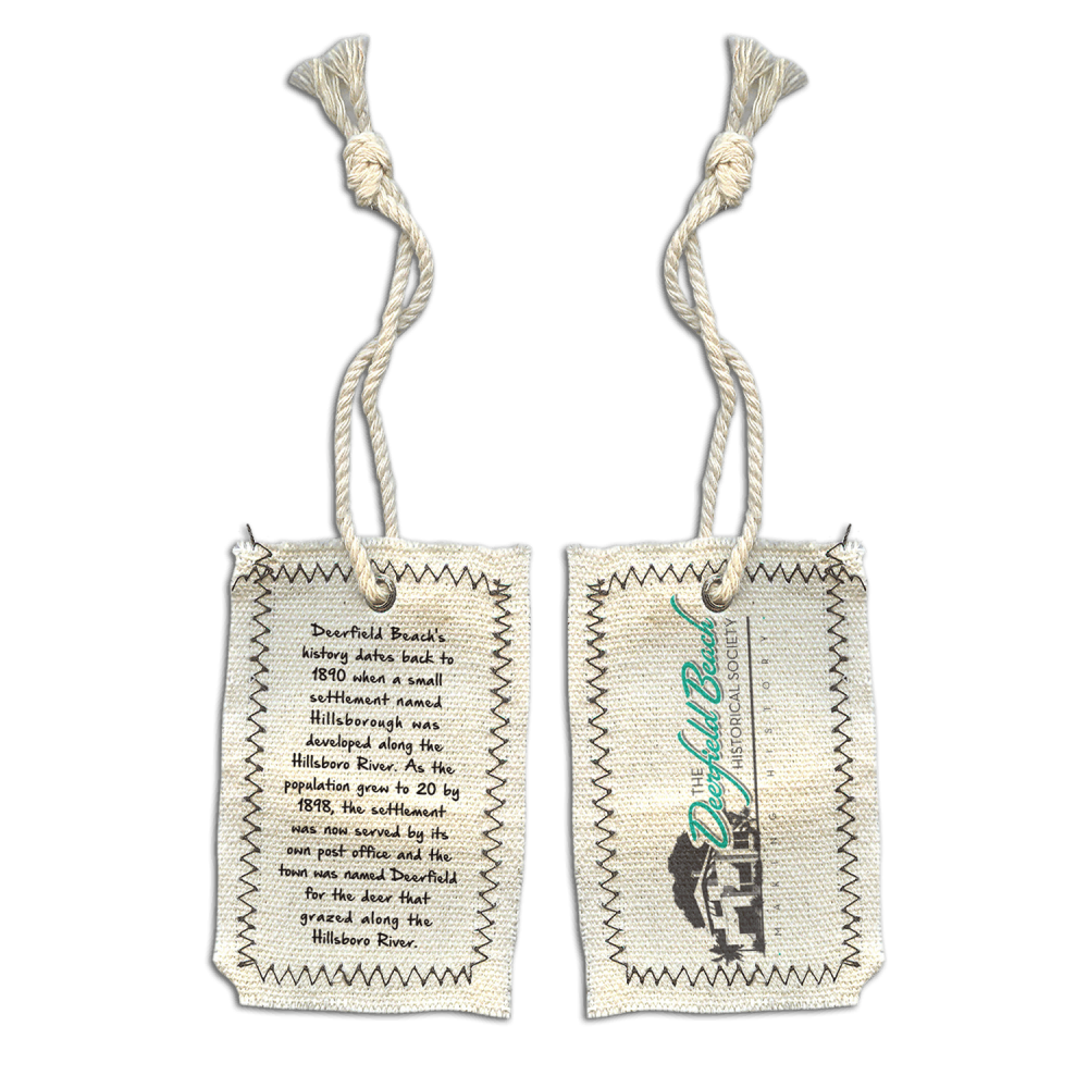 Deerfield Beach Historical Society - SHOP: Hang Tag