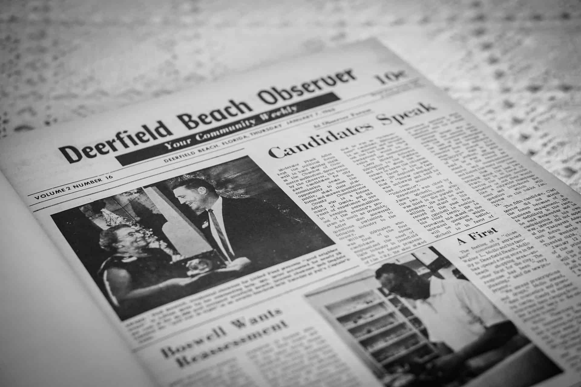 52 Deerfield Moments: #49 - Deerfield Beach Observer